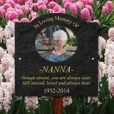 details about outdoor photo oval memorial plaque with photo pet grave sign in memory sign