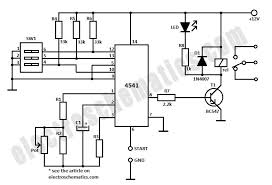 4541 timer relay circuit 0 3 second to 10 hours 4541 timer relay circuit schematic