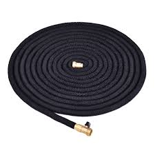 costway 100ft expanding flexible water hose pipe home garden hose watering black 0