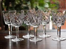 waterford crystal ashling port wine glasses set of 6 vintage