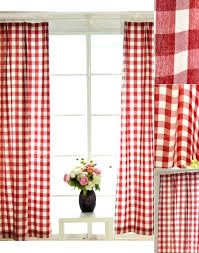 quality cotton classic red and white bedroom plaid curtains curtain panels buffalo check