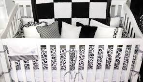 striped gray girl baby and set crib gold bedding amusing black white sets boy pink modern