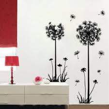 Small Picture Aliexpresscom Buy DIY flying dandelion flower butterfly Wall