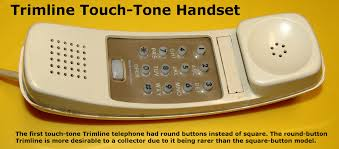 western electric products telephones trimline rare round button trimline touch tone model click on image to enlarge