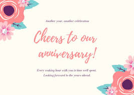 Template Anniversary Card White With Colorful Necktie Anniversary Card Templates By