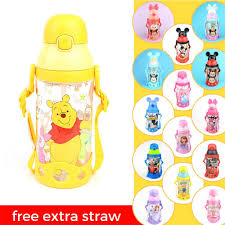 disney minion tsum tsum kids water bottle with straw bpa free 530ml