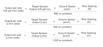 Boom Sprayer Calibration Chart Calibrate Airblast Output Sprayers 101