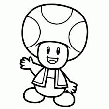 Kleurplaat Mario