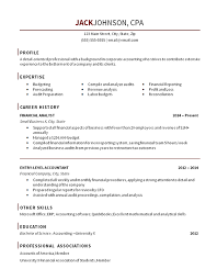 Entry Level Accounting Resume Sample Free Resume Templates 2018