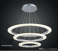 led pendant lamp modern luxury round ring led pendant lamp diameter led pendant light acrylic silver frame led chandelier ceiling lamps led pendant lighting