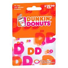 dunkin donuts 15 gift card1 0 ea