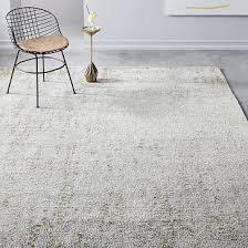 distressed foliage rug platinum