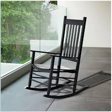 black wooden outdoor rocking chairs