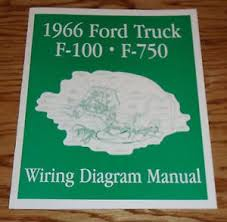 ford truck f f wiring diagram manual brochure  image is loading 1966 ford truck f100 f750 wiring diagram manual