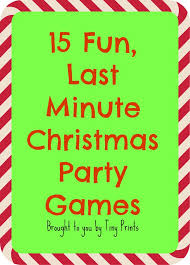Fun Last Minute Christmas Party Games