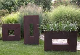Decorative Planter Boxes Modern Metal Wall Planters Re Large Metal Indoor Planter Box 59