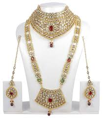 Amazon Com Ethnic Traditional Long Necklace Ethnic Indian Bridal