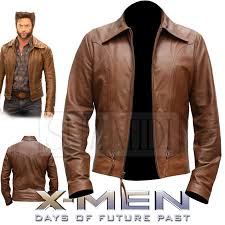 details about classic leather jacket inspired by x men days of future past wolverine logan