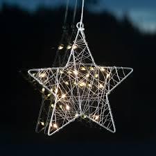 Star Led Fensterdeko Wiry Stern 21x20x2 Cm Metall Silber