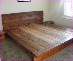 King Platform Bed Frames Selections HomesFeed With Regard To Rustic Frame  Decor 8