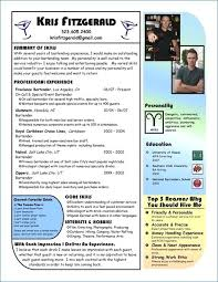 Resume For Bartender Beautiful Resume For Bartender Bizmancan Com