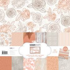 kaisercraft peachy collection 12 x 12 paper pack