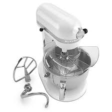 T KitchenAid KP26M1XWH 10 Speed Stand Mixer W 6 Qt Stainless Bowl U0026  Accessories White
