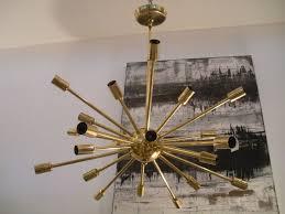 vintage brass sputnik light fixture 2