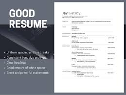 Examples Of Bad Resumes Template Simple Good Resumes Versus Bad Resumes