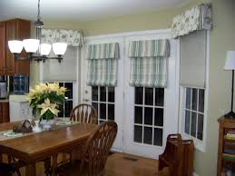 image of kitchen sliding glass door window treatment