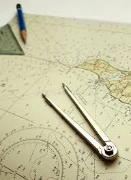 Nautical Chart And Dividers Stock Photo Image Of Coastline