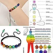 Malltop 7 Color Beads Hand String Bracelet Lava Stones Reiki Chakra Prayer Healing Balance Yoga Bangle Style B