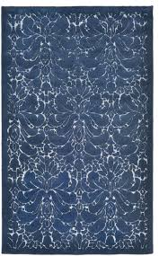 seville modern damask denim area rug contemporary area rugs by rugs hut