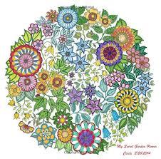 my secret garden flower circle