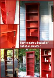 how to repurpose an old door into a diy bookshelf step by step tutorial instruction