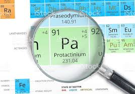 Protactinium Symbol Pa Element Of The Periodic Table Zoomed stock ...