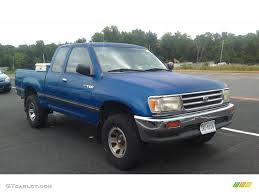 Tropical Blue Metallic 1995 Toyota T100 Truck DX Extended Cab 4x4 ...