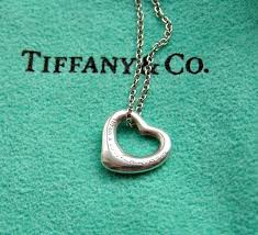 tiffany co pendant elsa peretti open heart 11mm