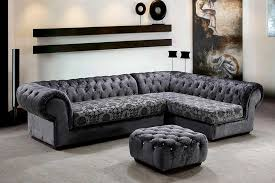 Grey Dream Micro Fiber Sectional Sofa Ottoman Sectionals