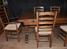 Farmhouse Dining Table Sets Farmhouse Kitchen Dining Set Refectory Table Set Ladderback Chairs