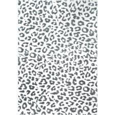 nuloom leopard print grey 8 ft x 10 ft area rug