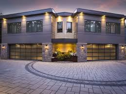 avante collection contemporary aluminum and glass garage doors