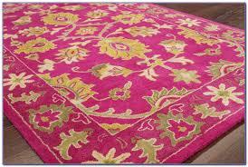 fuschia pink area rug