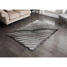 sculptured metallic 3d rug 110 x 160cm