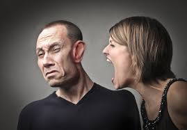 Angry woman screaming against her husband with his face deformed - eniGma  Magazine