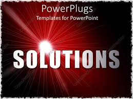 bold powerpoint templates powerpoint template bold text solutions with sparkling white