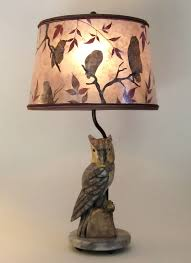 owl lamp shades alabaster antique round mica lampshade with owls and 0
