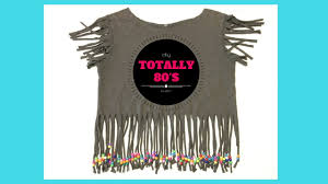 totally awesome diy 80 s fringe shirt with pony beads