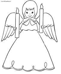 Small Picture Free Angel Coloring Pages letscoloringpagescom Cute Angel 5
