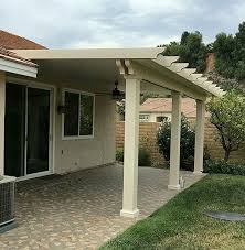 solid alumawood patio cover with square
